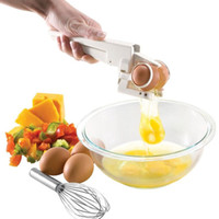 Wholesale 2015 New arrival Hot sale best quality Egg Cracker Handheld York White Separator Easy Crackers Separate Egg Kitchen Gadget Too