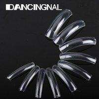 Wholesale Nails Tools False Nails Clear French Acrylic False Nails UV Gel Polish Nail Art Beauty Tips For Salon Extra