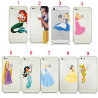 bell cover - For iPhone s s C Plus Princess Snow White Alice Cinderella Rapunzel Girl Tinker Bell Transparent Clear Cover