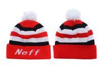 Wholesale Neff Beanies New Arrival Pom Pom Beanies Hip Hop Snapback Hats NEFF Custom Knitted Cap Snapbacks Mix Order Free Ship High Quality
