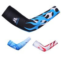 Wholesale 88 Polyester Spandex Elastic Breathable Bicycle Arm Sleeves Unisex Sun Protective UV Cover Arm Warmers for Cycling Lovers Y1189