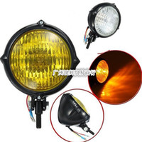 Wholesale Motorcycle accessories motorcycle refit inch retro headlamps headlamps headlight electric cool black