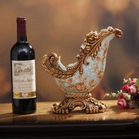 Wholesale European Home Decoration Resin wine rack wine cooler Decoration creative crafts living room B16