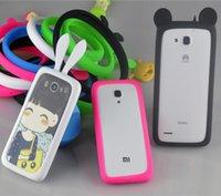 al por mayor teléfono cubre osos-2015 más nuevos paragolpes universal del teléfono celular de concha de oreja de conejo y el marco de la oreja de oso caso de la cubierta de silicona para el iPhone 6 6S más Samsung S6