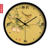 chinese furniture - Chinese art China wind restoring ancient ways is the living room wall clock supe mute quartz clock clock clock