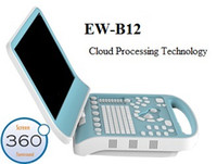 Wholesale Portable Digital Ultrasound Scanner EW B12 black white for Human Notebook ultrasound with convext probe