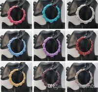 basketball wives bamboo hoop earrings - pairs pieces X Basketball Wives Earring Big Hoop Circle Rhinestone Crystal Dangle Stud Bamboo