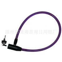 Wholesale Small round vault brand bicycle lock cable lock Model A shall be processed customized booking