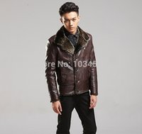 air pur - Fall HEER GOOS Fashoin Motorcycle Leather Coat Air Force Wool Cashmere Pur Warm Jacket