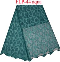 Wholesale New style French net lace fabric African pure tulle mesh lace fabric high quality for party dress FLP