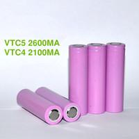 Wholesale Li ion battery VTC5 for battery vtc4 vtc5 US18650 VTC5 mah e cigarette mod