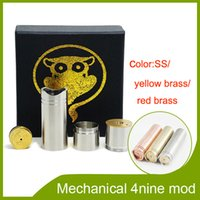 Wholesale 2014 Hottest New Arrival ecigator full mechincal mod nine mod clone nine mod stainless yellow red brass mod fit
