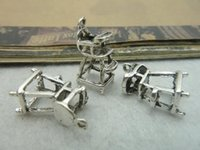 Cheap 30Pcs 9*13*20mm Baby Chair Charms Pendant Antique Silver Tone Jewelry Findings C5982