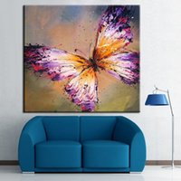 abstract purple painting - 100 Handpainted Abstract Purple Butterfly Oil Painting Beautiful Art Animal Paintings On Canvas For Home Decor