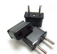 Wholesale AU US to EU AC Power Plug Converter Travel Adapter Adaptor USA to European Power Plug Adapter pin Flat to Round
