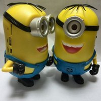 Wholesale Minions Mini Speaker S Despicable Me Audio Speakers TF Card MP3 Handsfree Stereo Speakers Subwoofer New Minions Toys