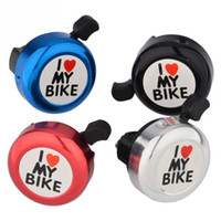 Wholesale Hot Sale I Love My Bike Printed Clear Sound Cute Bicycle Accessories Bike Alarm Warning Ring Bell for Children