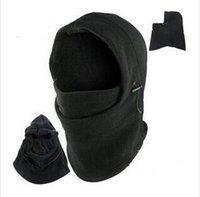 beach hood - 6 in Thermal FLEECE BALACLAVA Hood Warm Neck Police Swat Ski MASK Cap Hat black grey for choose