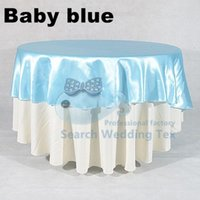 baby blue table cloth - Baby Blue Color Satin Table Cloth Banquet Party Table Cloth Any Size Can Choose For Buyer