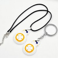bb necklace - Star Wars The Force Awakens BB8 BB Droid Robot Pendant Necklace Keychain Fashion Cartoon Movie Key Chain Toys