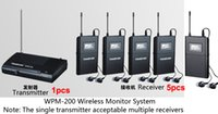 Wholesale Boutique Takstar WPM UHF Wireless Monitor System Stereo In Ear Wireless Headphones Transmitter pc Receiver earphone free ship