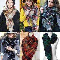Wholesale Details about Lady Women Blanket Oversized Tartan Scarf Wrap Shawl Plaid Cozy Checked Pashmina