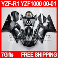 For Yamaha body kit - 7gift Body For YAMAHA YZFR1 YZF R1 Flat black YZF1000 C L651 YZF YZF R1 Matte black YZF R Fairing Kit Bodywork
