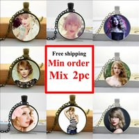 actress photo - NS Pop Singer Neckalce Fashion Actress Pendant Glass Photo Cabochon Necklace