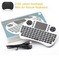 Wholesale 10pcs Rii I8 Fly Air Mouse Mini Wireless Handheld Keyboard GHz Touchpad Remote Control For M8S MXQ MXIII TV BOX Mini PC