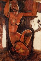 amedeo modigliani paintings - Caryatid III Amedeo Modigliani Canvas Portrait Paintings Wall Art High quality Hand painted