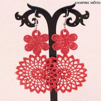 Cheap Discount Vintage Chinese Style New Style Bridal Jewelry Earrings Colored Flowers Duolei Si S42750