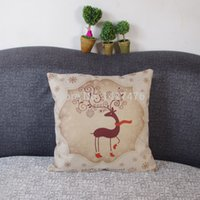 Cheap Hot 2015 new design cartoon deer bedding, sofa pillow case beautiful home decoration wedding pillowcase