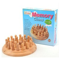 Wholesale Wooden memory chess children educational toys parenting table game include color chess