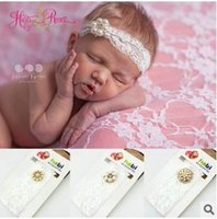 baby lace - Baby Lace Pearl Headbands Kids Hair Flowers Girls Headbands Baby Hair Accessories Infant Headbands Newborn Baby Lace Hairbands
