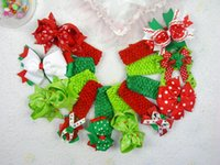 baby hair supplies - New Supply Christmas hairpins Grosgrain accesorries inches baby girl boutique hair bows with crochet inch headbands M03 Y