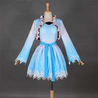 Wholesale 2015 Adult RWBY Weiss Schnee Cosplay Costume Dress Girl Party Dress Fancy All Size