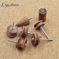 Wholesale 7pcs Multi Size Leathercraft Cocobolo Wood Leather Burnisher DIY Tool Grinder
