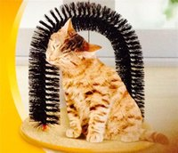 Wholesale Hot selling New Plastic Bristles Purrfect Arch Cat Groomer and Massage cat scratcher toy