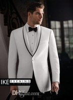 best cashmere brands - Brand New One Button Groom Tuxedos Best man Suit Shawl Collar Groomsman Men Wedding Suits Bridegroom Jacket Pants Tie Girdle J681