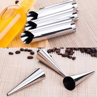 anode tube - Hot Sell Stainless steel spiral tube anode spiral baked croissants DIY essential Horn baking cake mold