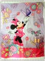 baby crib duvet - Hot Selling cm babies mickey and minnie mouse cartoon baby crib bedding uilt comforter duvet pink Purple