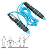 Wholesale Anti slip Adjustable Jump Rope Skipping Rope LCD Calorie Counter Digital Speed Rope Crossfit Women Corda De Pular Corda