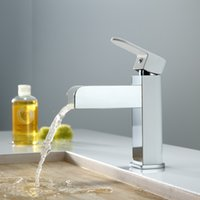 Cheap KINSE LED Light Waterfall Spout Basin Sink Faucet Automatic Colors Changing Bathroom Temperature Sensor Controlled Mixer Tap H15648