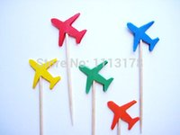 airplane birthday party favors - cheap Airplane Party Picks Cupcake Toppers Toothpicks Food Picks wedding baby shower birthday party favors