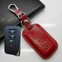 bag for keys lexus - Leather key fob case for Lexus IS GS ES series key cover holder shell key wallet bag accessories