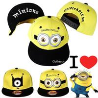 boys hats - Minions Cap Kids Snapback Hat Caps Children s Boys Cartoon Baseball Cap Hip Hop Hats Despicable Me Caps Boy Girl Student Minions Cap Red