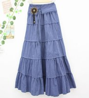 Where to Buy Long Skirt Denim Cotton Online? Where Can I Buy ...