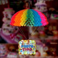 Wholesale Birthday wedding party decoration site layout parachute garland children birthday party supplies