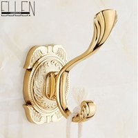 antique gold finish - Luxury europe style robe hook soild brass single hook chrome antique bronze and gold finish wall hanger bathroom accessories