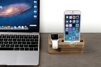 For Apple iPhone charger dock station stand - Wood Stand Holder Charging Mount Anti Skid Docking Station Desktop Charger Hold Displayer Lazy Bracket Rack For Apple Watch iphone